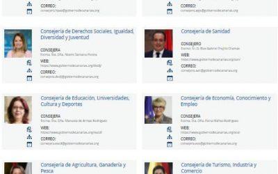 Portal del organigrama del Gobierno de Canarias